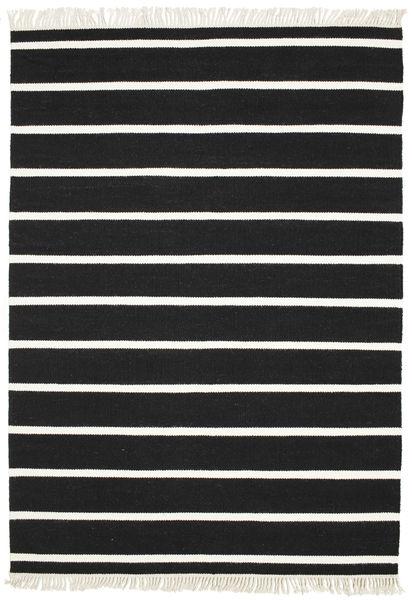 Dorri Stripe - Svart/Vit Matta 160X230 Äkta Modern Handvävd Svart/Beige (Ull, Indien)