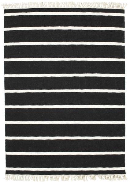 Dorri Stripe - Svart/Vit Matta 140X200 Äkta Modern Handvävd Svart (Ull, Indien)