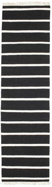 Dorri Stripe - Svart/Vit Matta 80X300 Äkta Modern Handvävd Hallmatta Svart/Vit/Cremefärgad (Ull, Indien)