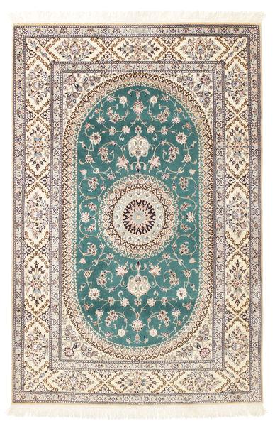 Nain 6La Habibian Matta 120X185 Äkta Orientalisk Handknuten Ljusgrå/Vit/Cremefärgad (Ull/Silke, Persien/Iran)