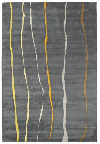 Flaws Handtufted - Grå Matta 200X300 Modern Ljusgrå/Mörkgrå/Blå (Ull, Indien)