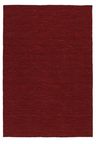 Kelim Loom - Mörkröd Matta 250X350 Äkta Modern Handvävd Roströd/Röd Stor (Ull, Indien)