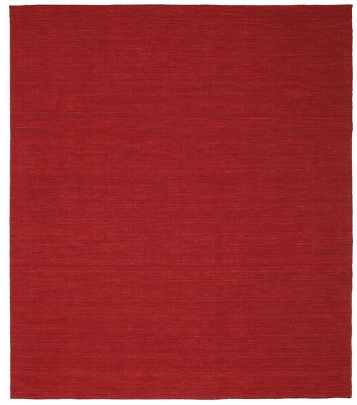 Kelim Loom - Mörkröd Matta 250X300 Äkta Modern Handvävd Röd Stor (Ull, Indien)