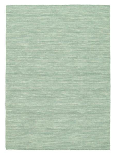 Kelim Loom - Mint Grön Matta 160X230 Äkta Modern Handvävd Turkosblå/Pastellgrön/Ljusblå (Ull, Indien)