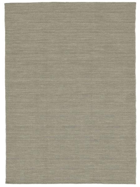 Kelim Loom - Ljusgrå/Beige Matta 160X230 Äkta Modern Handvävd Ljusgrå (Ull, Indien)