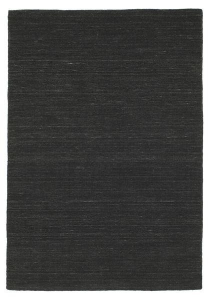 Kelim Loom - Svart Matta 120X180 Äkta Modern Handvävd Svart (Ull, Indien)