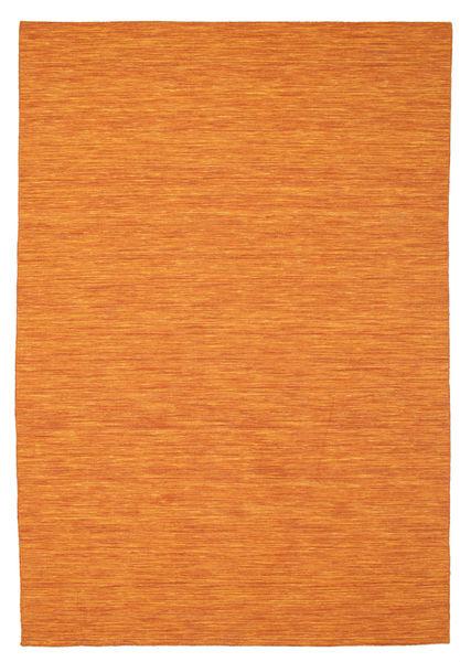 Kelim Loom - Orange Matta 200X300 Äkta Modern Handvävd Orange (Ull, Indien)