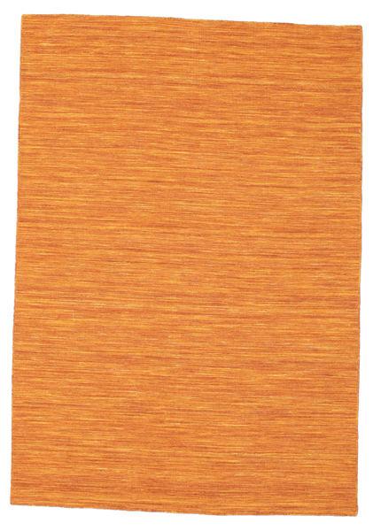 Kelim Loom - Orange Matta 140X200 Äkta Modern Handvävd Orange (Ull, Indien)