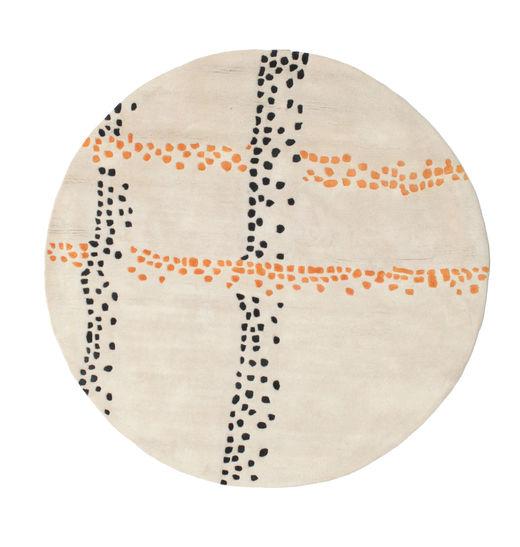 Delight Handtufted - Orange Matta Ø 150 Modern Rund Beige/Ljusgrå (Ull, Indien)