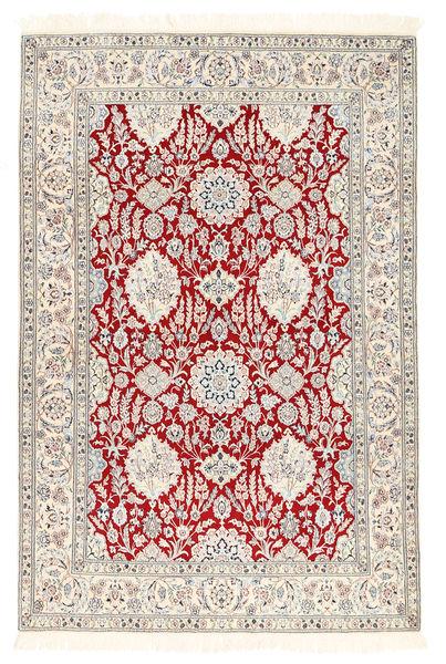 Nain 6La Matta 132X194 Äkta Orientalisk Handknuten Ljusgrå/Vit/Cremefärgad (Ull/Silke, Persien/Iran)