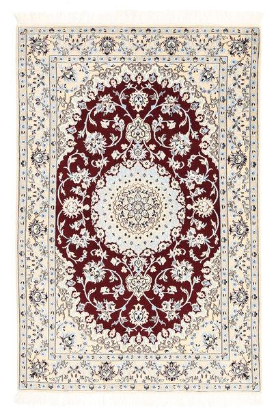 Nain 6La Matta 102X152 Äkta Orientalisk Handknuten Beige/Ljusgrå (Ull/Silke, Persien/Iran)