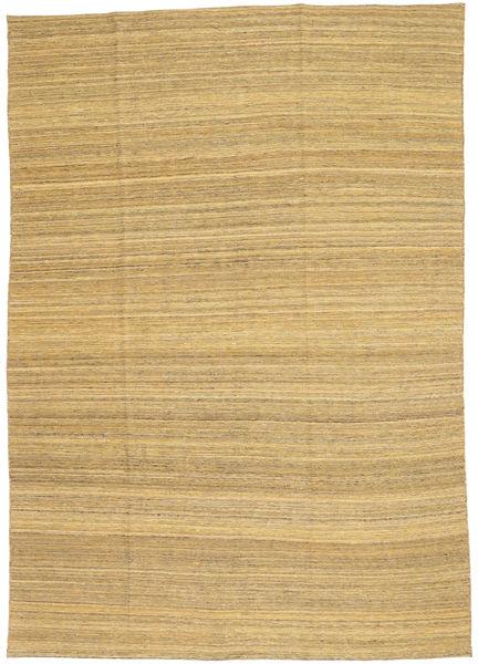 Kelim Moderna Matta 199X283 Äkta Modern Handvävd Mörkbeige/Ljusbrun (Ull, Afghanistan)