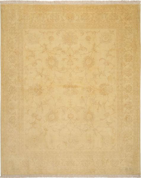Tabriz 50 Raj Med Silke Matta 205X252 Äkta Orientalisk Handknuten Mörkbeige/Ljusbrun (Ull/Silke, Persien/Iran)