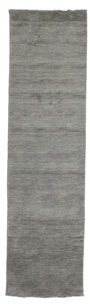 Handloom Fringes - Mörkgrå Matta 80X300 Modern Hallmatta Mörkgrå (Ull, Indien)