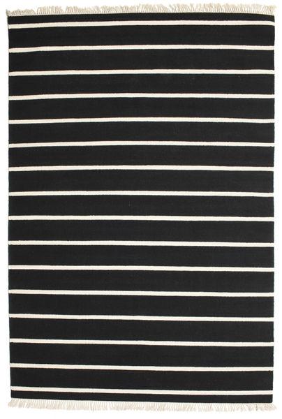 Dorri Stripe - Svart/Vit Matta 200X300 Äkta Modern Handvävd Svart/Beige (Ull, Indien)