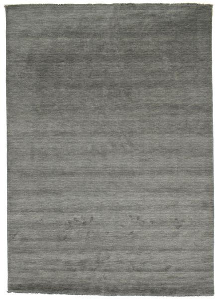 Handloom Fringes - Mörkgrå Matta 250X350 Modern Mörkgrå Stor (Ull, Indien)
