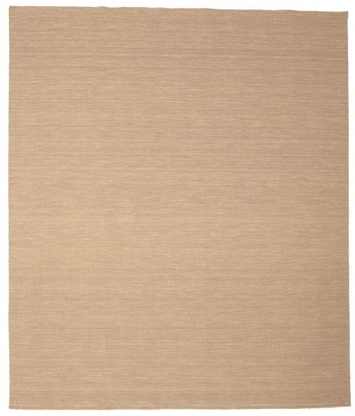 Kelim Loom - Beige Matta 250X300 Äkta Modern Handvävd Ljusbrun/Mörkbeige/Beige Stor (Ull, Indien)