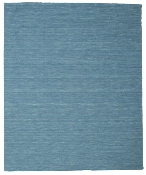 Kelim Loom - Blå Matta 250X300 Äkta Modern Handvävd Turkosblå/Blå Stor (Ull, Indien)