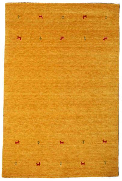 Gabbeh Loom Two Lines - Gul Matta 190X290 Modern Gul/Ljusbrun (Ull, Indien)