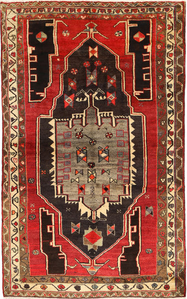 Lori Matta 152X238 Äkta Orientalisk Handknuten Mörkbrun/Roströd (Ull, Persien/Iran)