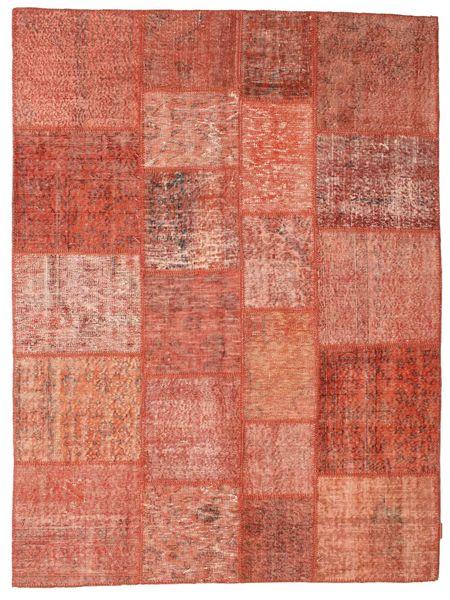 Patchwork Matta 172X233 Äkta Modern Handknuten Röd/Mörkröd/Ljusrosa (Ull, Turkiet)