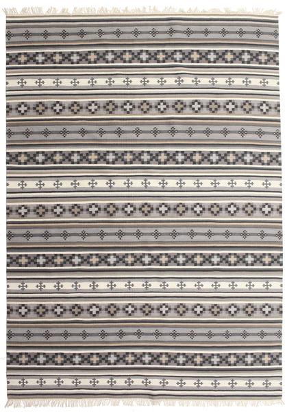 Kelim Cizre Matta 240X340 Äkta Modern Handvävd Ljusgrå/Beige (Ull, Indien)