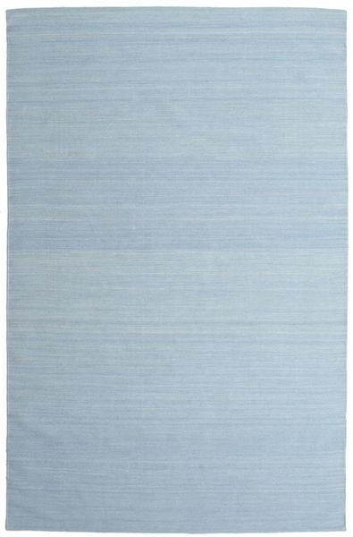 Kelim Loom - Ljusblå Matta 200X300 Äkta Modern Handvävd Ljusblå (Ull, Indien)