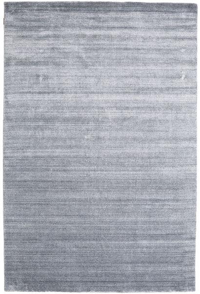 Bambu Silke Loom - Denim Blå Matta 200X300 Modern Ljusgrå/Ljusblå ( Indien)