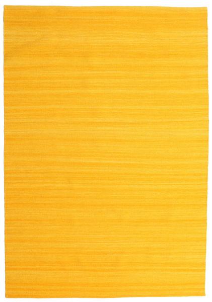 Kelim Loom - Gul Matta 160X230 Äkta Modern Handvävd Orange/Gul (Ull, Indien)