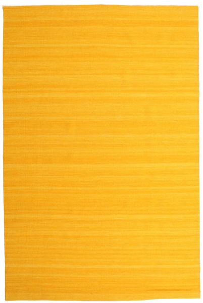 Kelim Loom - Gul Matta 200X300 Äkta Modern Handvävd Orange (Ull, Indien)