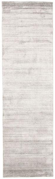 Bambu Silke Loom - Warm Grå Matta 80X300 Modern Hallmatta Ljusgrå/Vit/Cremefärgad ( Indien)