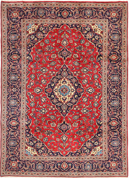 Keshan Matta 242X342 Äkta Orientalisk Handknuten Mörkröd/Mörklila (Ull, Persien/Iran)