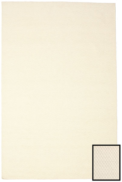 Bobbie - Ljus Matta 200X300 Äkta Modern Handvävd Vit/Cremefärgad/Beige (Ull, Indien)