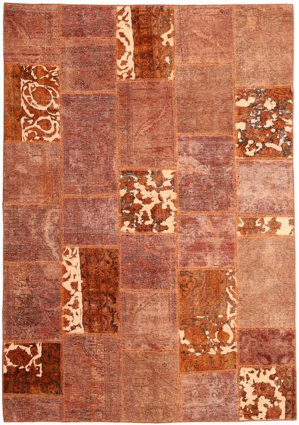 Patchwork Matta 166X243 Äkta Modern Handknuten Röd/Mörkröd (Ull, Persien/Iran)