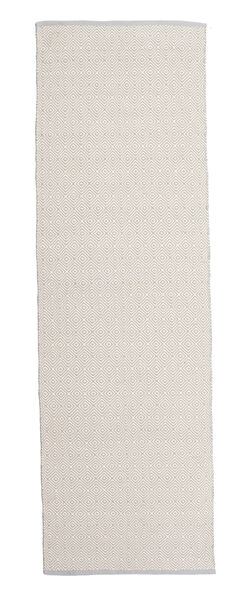 Diamond - Svart/Vit Matta 80X250 Äkta Modern Handvävd Hallmatta Mörkgrå/Ljusgrå (Bomull, Indien)