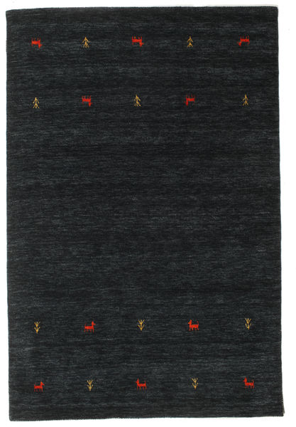 Gabbeh Loom Two Lines - Svart/Grå Matta 160X230 Modern Svart (Ull, Indien)