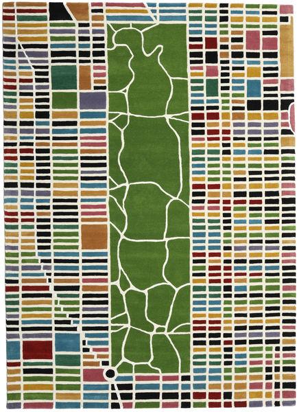 New-York/Manhattan Handtufted - Multi Matta 200X300 Modern Beige/Olivgrön (Ull, Indien)
