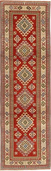 Kazak Matta 81X292 Äkta Orientalisk Handknuten Hallmatta Mörkröd/Ljusbrun (Ull, Pakistan)