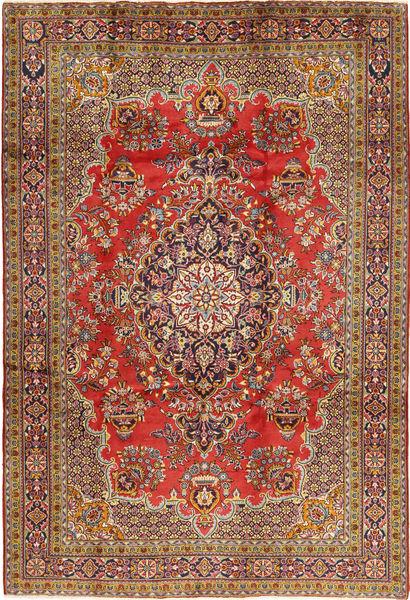 Golpayegan Matta 218X318 Äkta Orientalisk Handknuten Mörkbrun/Ljusbrun (Ull, Persien/Iran)