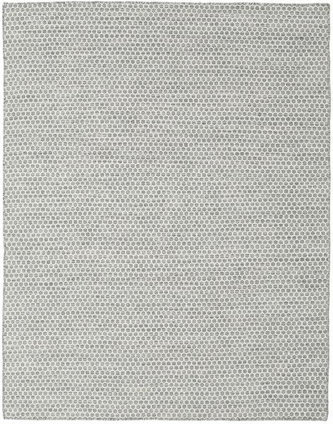 Kelim Honey Comb - Grå Matta 190X240 Äkta Modern Handvävd Ljusgrå/Turkosblå (Ull, Indien)