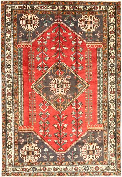 Shiraz Matta 203X300 Äkta Orientalisk Handknuten Mörkröd/Brun (Ull, Persien/Iran)