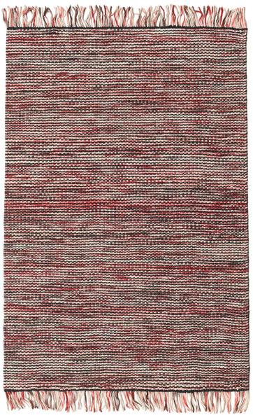 Vilma - Röd Mix Matta 120X180 Äkta Modern Handvävd Mörkbrun/Ljusrosa (Ull, Indien)