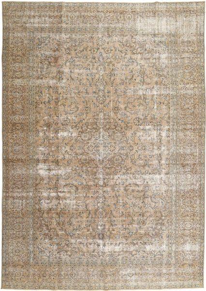 Colored Vintage Matta 278X384 Äkta Modern Handknuten Ljusgrå/Ljusbrun Stor (Ull, Persien/Iran)