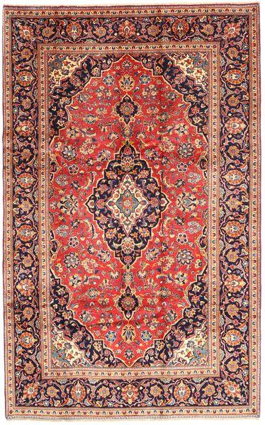 Keshan Matta 193X306 Äkta Orientalisk Handknuten Mörkröd/Ljusbrun (Ull, Persien/Iran)