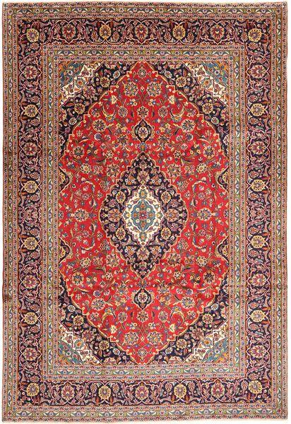 Keshan Matta 240X352 Äkta Orientalisk Handknuten Mörkröd/Brun (Ull, Persien/Iran)
