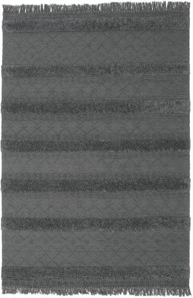 Kelim Berber Ibiza - Mjukt Grå Matta 200X300 Äkta Modern Handvävd Svart/Mörkgrå (Ull, Indien)