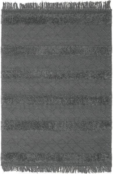 Kelim Berber Ibiza - Mjukt Grå Matta 160X230 Äkta Modern Handvävd Svart/Mörkgrå (Ull, Indien)