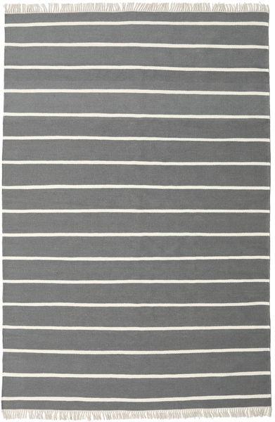 Dorri Stripe - Grå Matta 200X300 Äkta Modern Handvävd Mörkgrå/Mörkgrön (Ull, Indien)