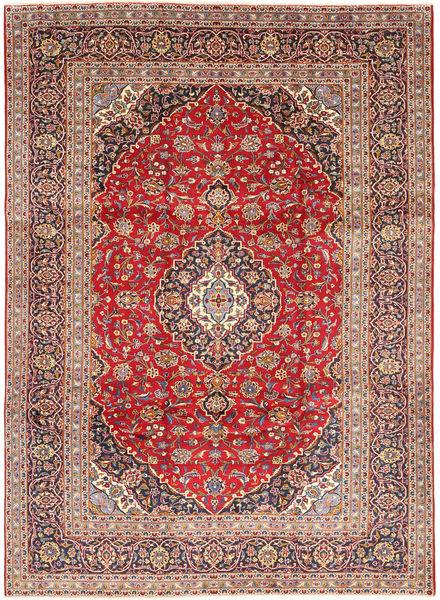 Keshan Matta 245X338 Äkta Orientalisk Handknuten Mörkröd/Roströd (Ull, Persien/Iran)