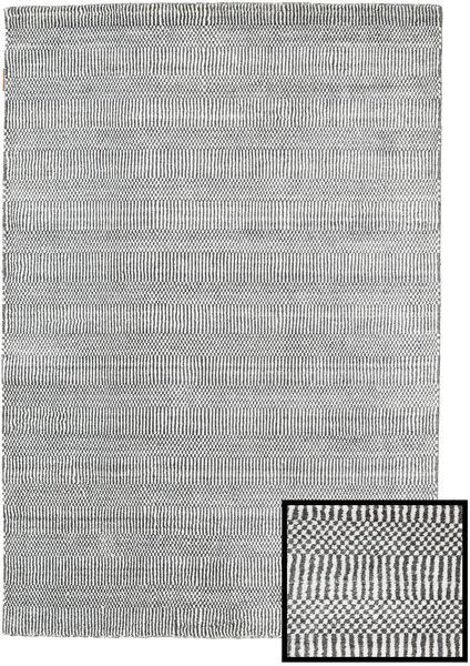 Bambu Grass - Black_ Grå Matta 120X180 Modern Ljusgrå/Mörkgrå (Ull/Bambusilke, Turkiet)